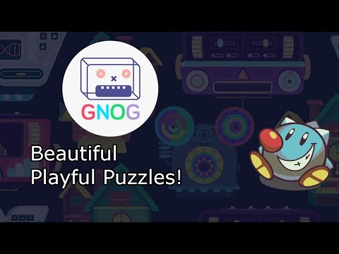Let's Play Gnog: Vibrant, Playful Point & Puzzle with Giant Robot Heads!